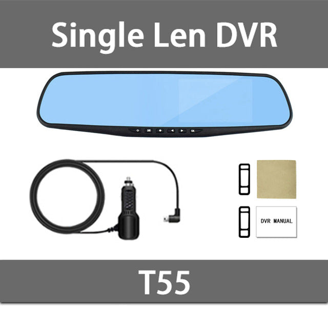 dvr dash camera dash cam car dvr mirror dual lens rear view camera rearview dashcam auto recorder video full hd front and rear