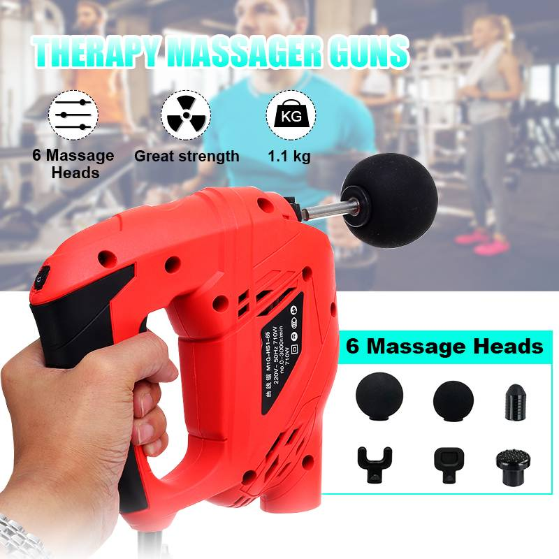 Fitness Deep Muscle Massage Guns Handheld Percussive Vibration Therapy Deep Tissue Massager Electric foot Massage Slimming