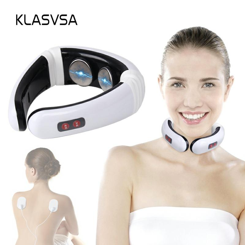 KLASVSA Electrode Pads Pulse Cervical Neck Massager Acupuncture Stimulator Wire Tens Physical Therapy Device Health Care Muscle
