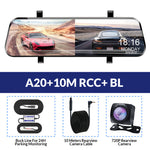 E-ACE 10 Inch Car Dvr Rearview Mirror Auto Camera Video Recorder FHD 1080P DashCame Dual Lens With Rear View Camera Registrator