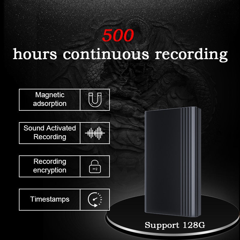 XIXI SPY 500 hours recording Voice recorder Dictaphone pen audio sound mini activated digital professional micro flash drive
