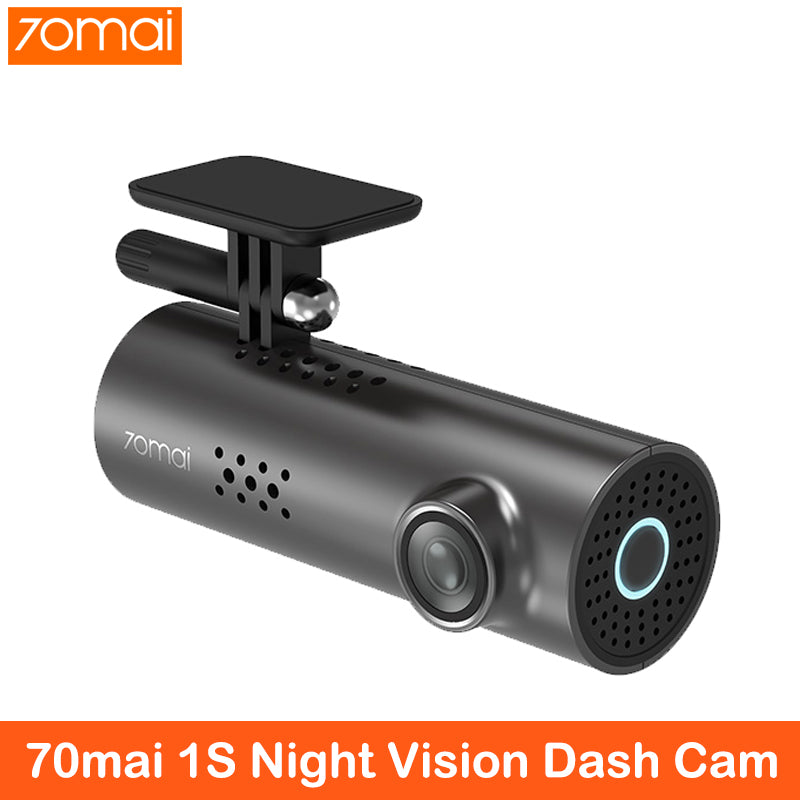 XiaoMi 70mai English Voice Control Car DVR Car Camera 1080HD Night Vision Dashcam WIFI Camera 70 mai  Dash Cam 1S APP