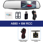 High Quality 4.3 Inch Dash Cam Car DVR Camera FHD Rearview Mirror With Rear View Camera Dual Lens Dashcam Auto Recorder Video