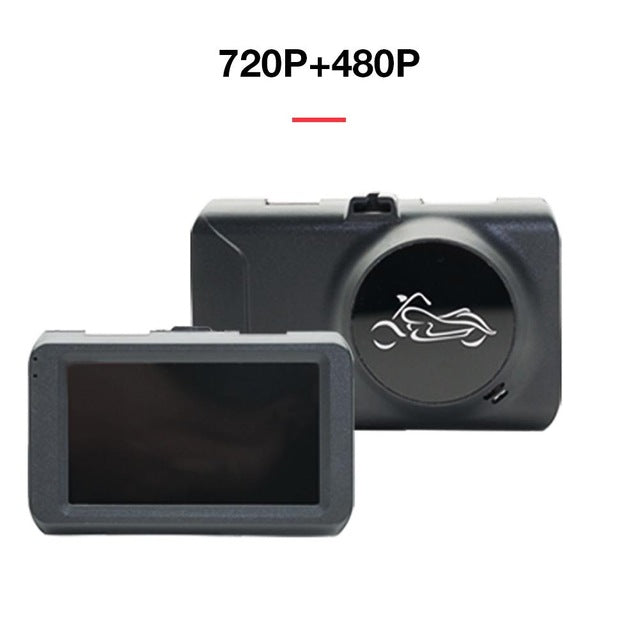 Motorcycle 3.0 HD Driving Recorder Front And Rear Waterproof Dual Lens Dashcam 170 Degree Shooting Angle 32GB Expansion