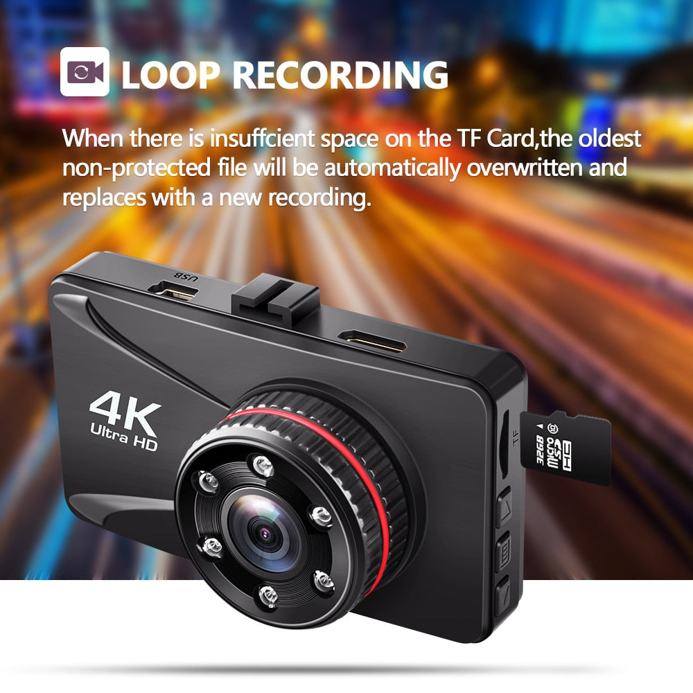 Car DVR 3 Inch 1080P Full HD Dash Camera Dash Cam 170 Degree Dashcam Registrars Cars Night Vision G-Sensor Car Camera Recorder