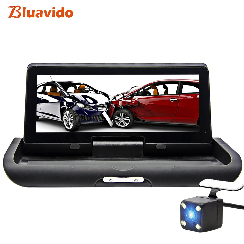 "Bluavido 8"" 4G Android Car DVR Camera GPS naivgation ADAS FHD 1080P Dashcam Night vision Video Recorder WiFi APP Remote Monitor"