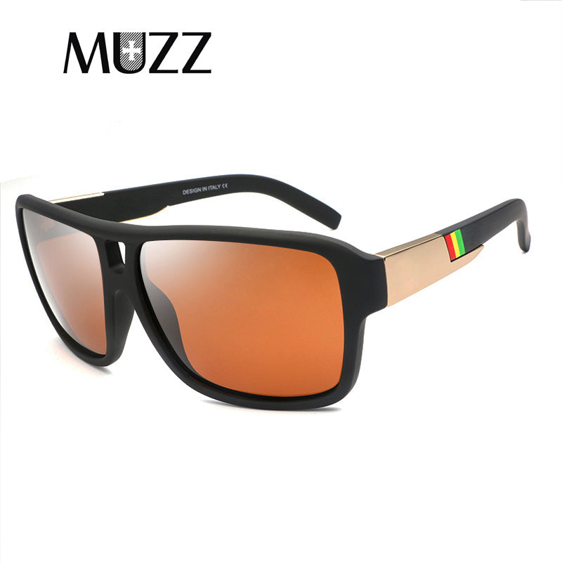 MUZZ Goggle Style Polarized Glasses High-quality Spied Sunglasses Men's Camouflage Frame 100% UV400 Driving Protection
