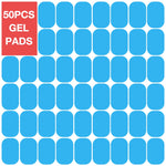 50 pcs Gel Pads for EMS Abdominal ABS Trainer Weight Loss Hip Muscle Stimulator Exerciser Replacement Massager Gel Patch