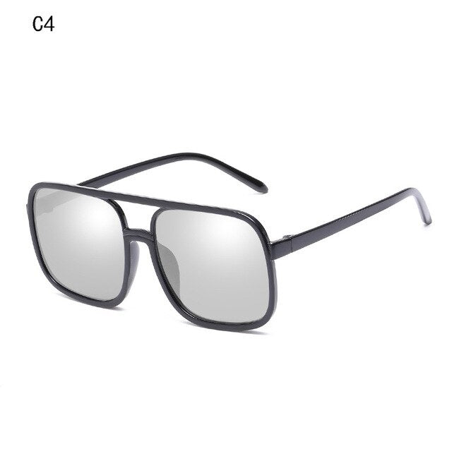 2020 Retro Square Sunglasses Men Women Brand Designer Reflective Coating Sun Glasses Goggle Square Spied SunGlasses Male