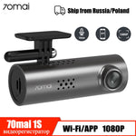 70mai Dash Cam 1S Car DVR Wifi APP Voice Control 70 Mai Dashcam 1080P HD Night Vision Car Camera Auto Video Recorder G-sensor