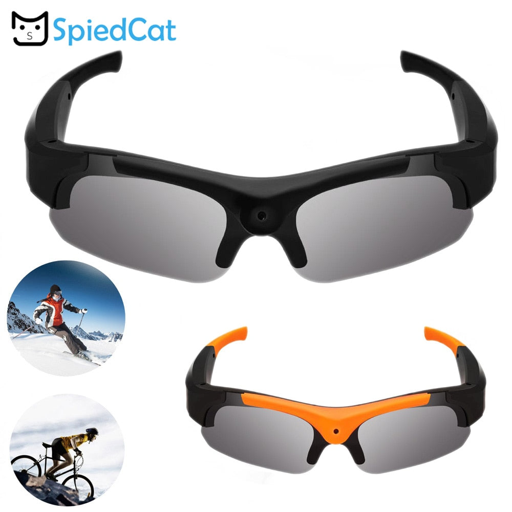 HD 90 Degree Flat Angle lenses Polarized  Eyewear Camera Video Recorder Outdoor Sport Sunglasses secret for Driving Glasses