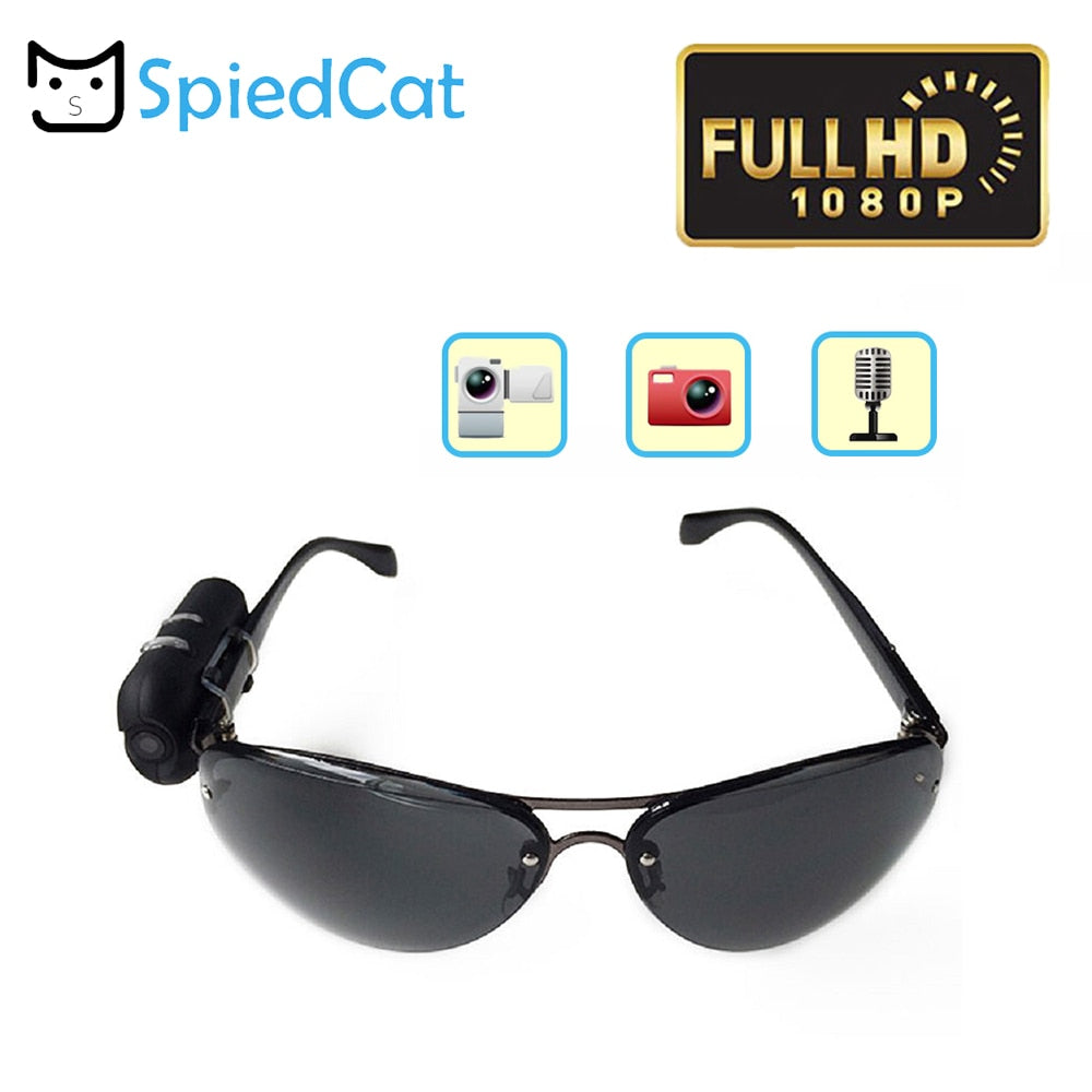 Fashional Mini Camera Full HD Sunglasses 1080P Glasses Micro Video Camera Recorder Secret DV Security Bicycle Invisible