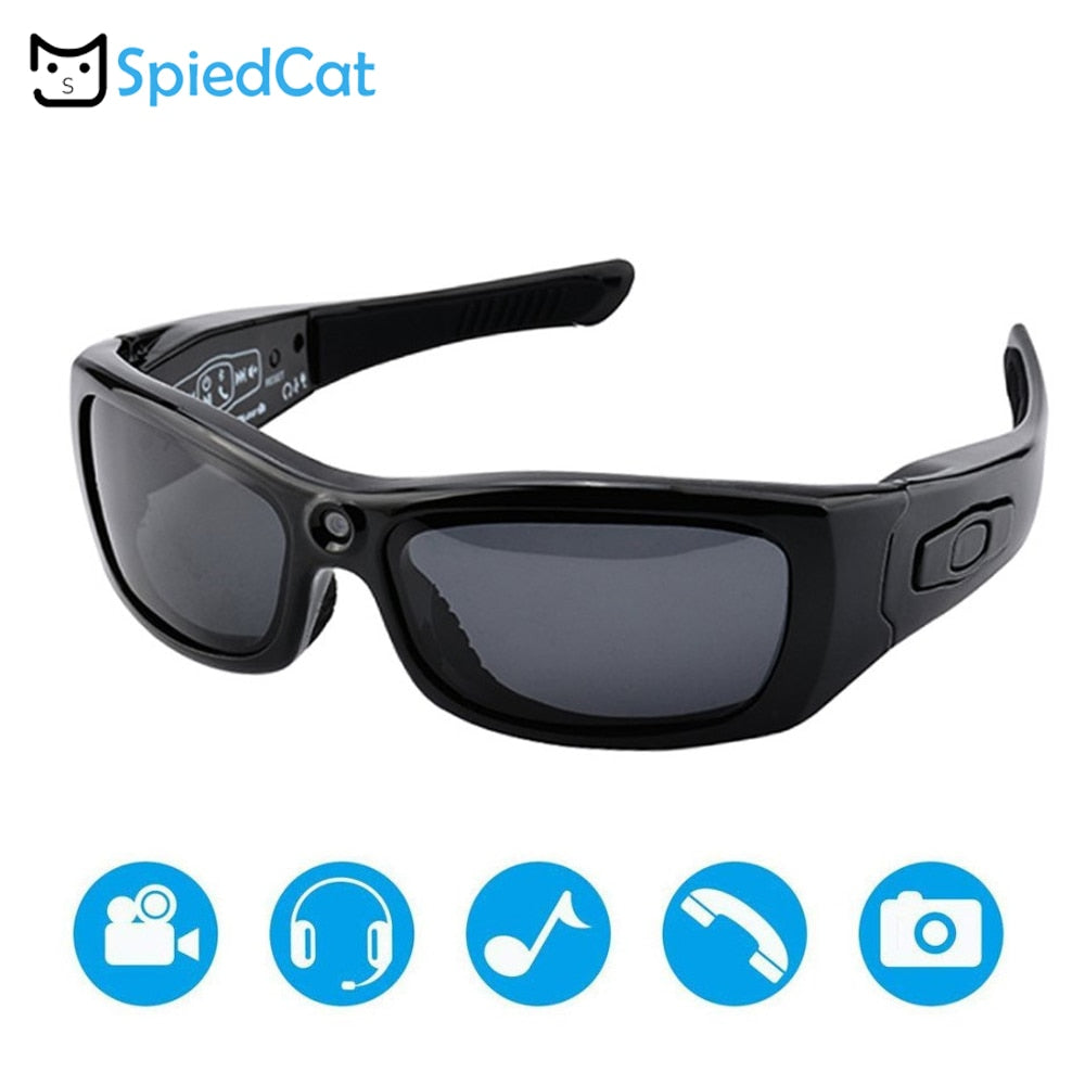 MP3 Player HD Glasses DV Camera with Bluetooth Sunglasses Headset Outdoor Sports Driving Forensics Recorder Polarized Lens Cam