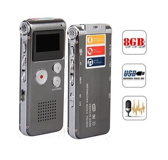 SK-012 8GB Spy Mini USB Flash Digital Audio Voice Recorder Dictaphone MP3 Player Grey Pen Drive Grabadora Gravador de voz