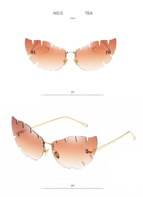 Cute Pink Rimless Sunglasses Women Brand Quality Vintage Glasses for Women or Female Party Sun Glasses D Eyewear Gafas