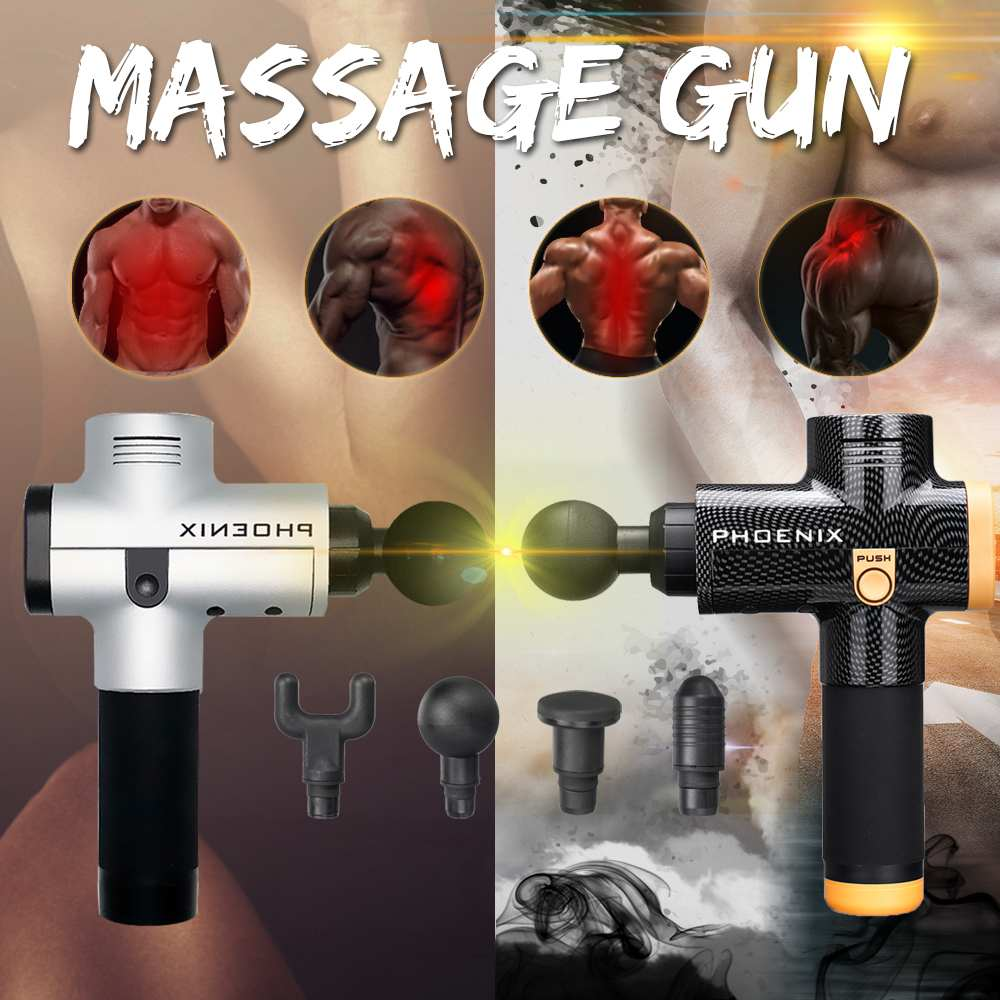 3 Files Electronic Therapy Body Massage Guns High Frequency Vibrating Brushless Led Massage Guns For Body Relaxing Relief Pains