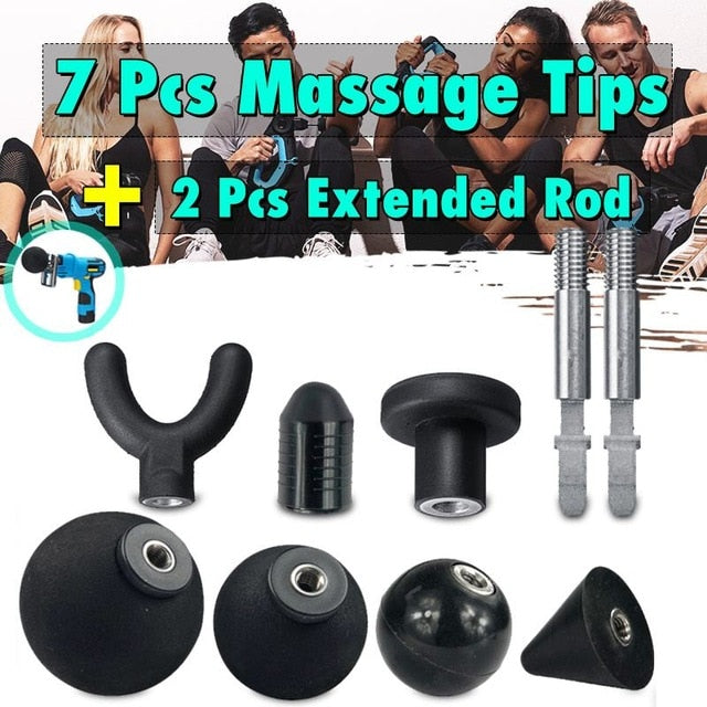 Electrical Back Neck Shoulder Body Massager Muscle Massager Guns Heated Kneading Home Massagem +7 Interchangeable Massages Heads
