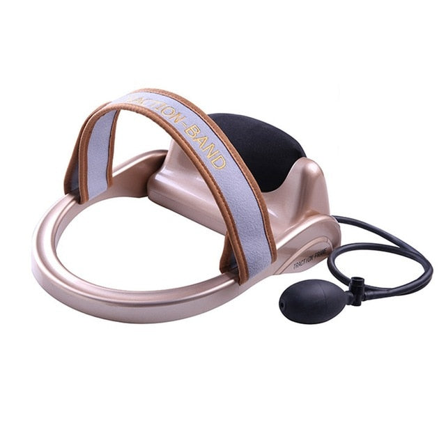 Neck Traction Cervical Posture Pump Air Filled Vertebra Correction Tractor Relaxing Massager Spine Muscle Relief Pain Device