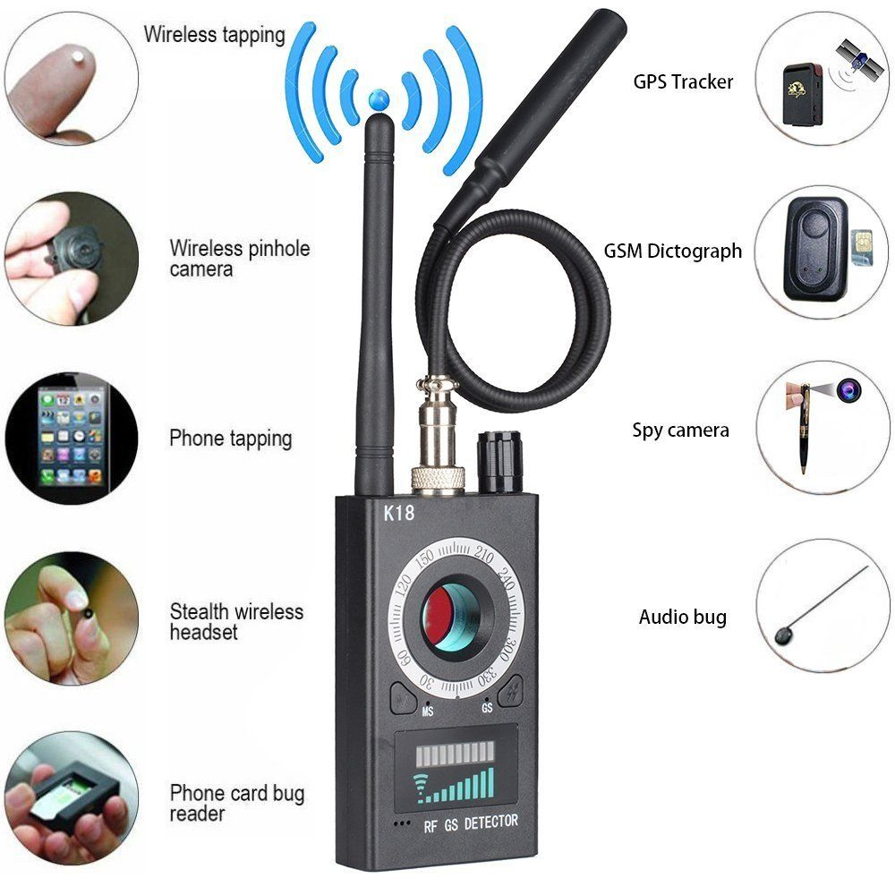 Dual Antennas Wireless Signal Finder Anti-SPY Full Range RF Camera Detector Protable GSM Sensor Mini Hidden Camera use in Hotel