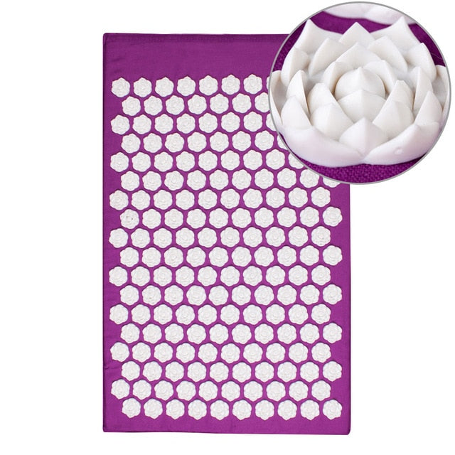 Lotus thorn acupuncture massage mat acupressure mat pillow body back massage pain relieve relax yourself Relaxation cushion bag