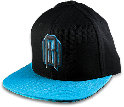 Hat - Electric Blue/Black RW Logo Snapback