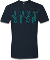 T Shirt - Blue Just Ride