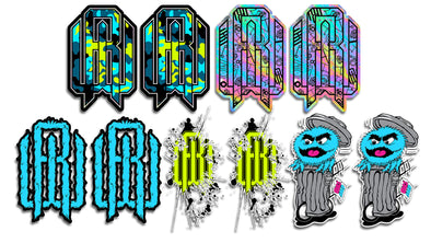 Sticker Pack - Sned Monster/RW Fur/Glow Camo/Paint Splatter/Oil Slick Doodle