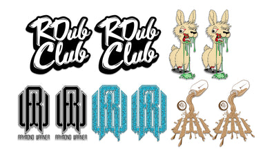 Throwback Sticker Pack #1 - Night Llama, R Dub Club, Blue Ooze, OG Raymond Warner, Chocolate Milk
