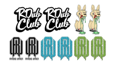 Throwback Sticker Pack #2 - Night Llama, R Dub Club, Blue Ooze, OG RW Logo, Green Ooze