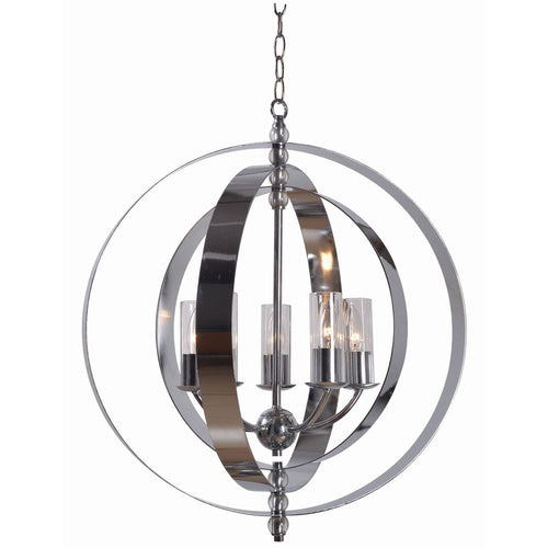 5 Light Chrome Modern Contemporary Chandelier