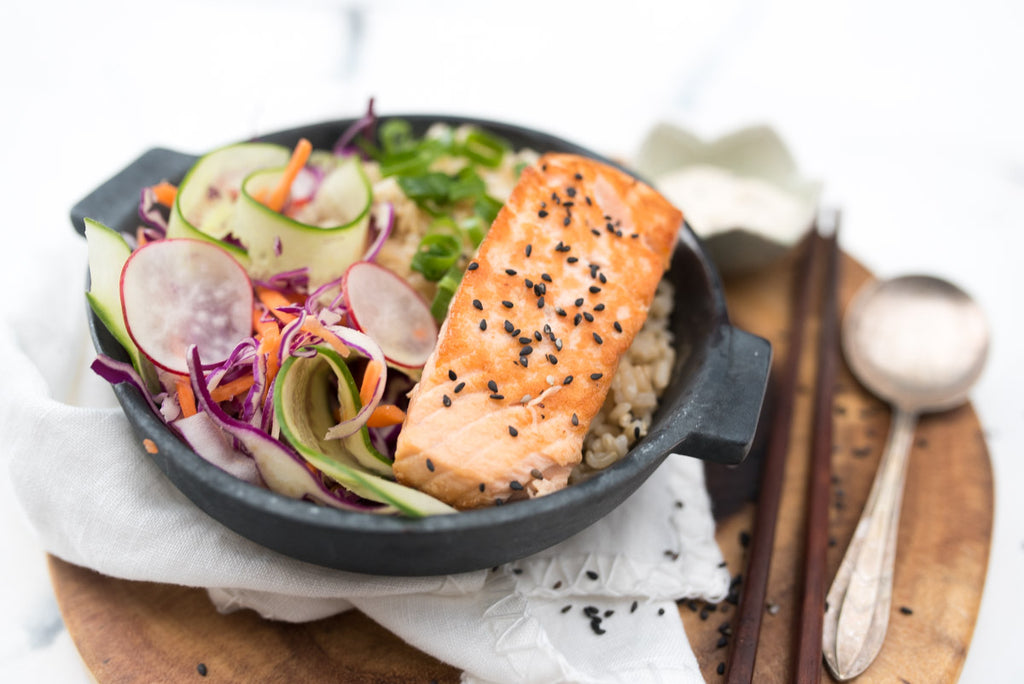 fresh healthy salmon meal prepared ready  home delivered home delivery healthy food chef cuisine