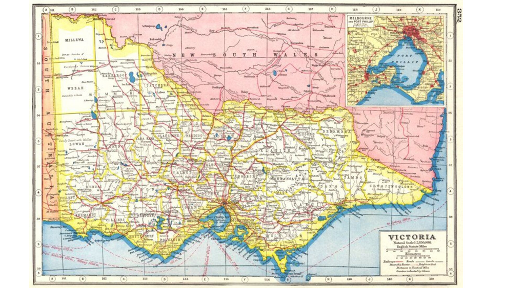 old map of victoria australia