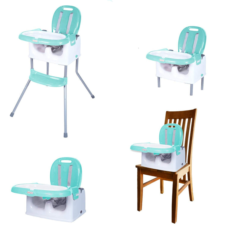 Little Pumpkin Classic 3 in 1 Multifunctional Feeding High Chair Turn Booster Chair & Seating Chair for Babies