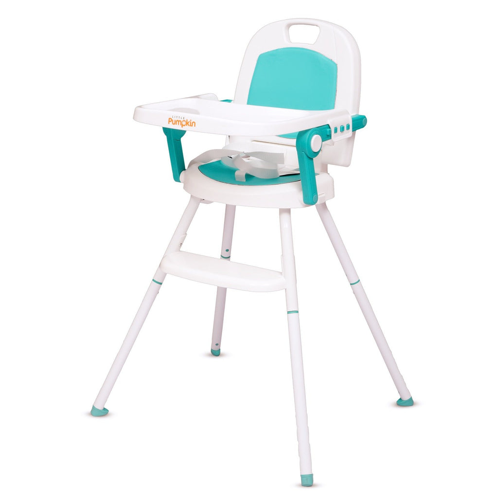 Phenomenal Little Pumpkin Kiddie Kingdom 3 In 1 Foldable High Chair Green Andrewgaddart Wooden Chair Designs For Living Room Andrewgaddartcom