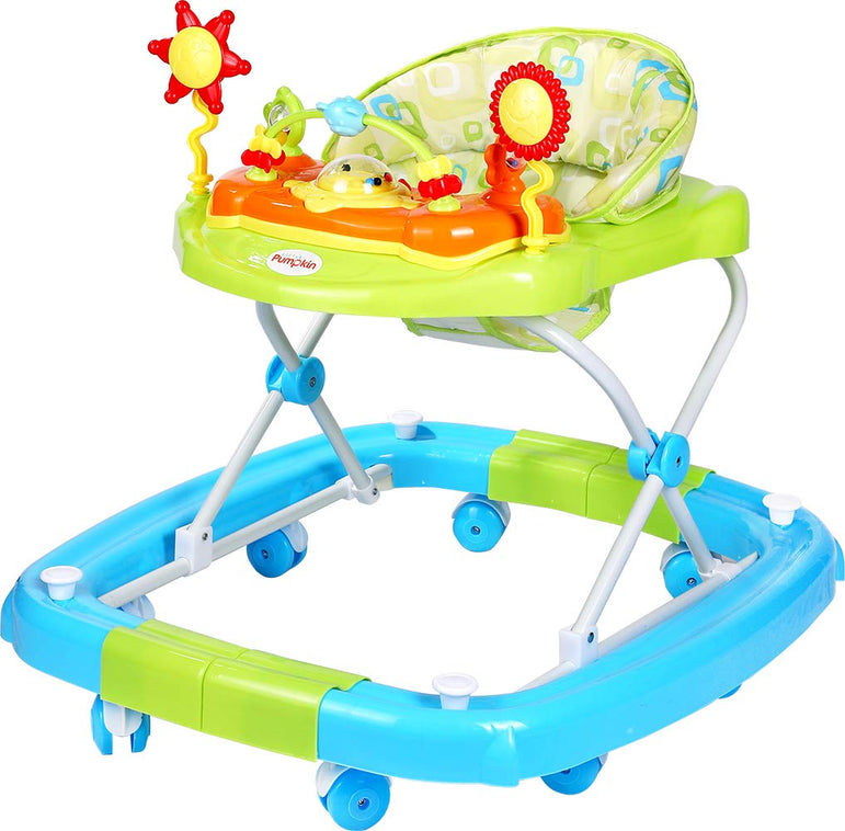 Little Pumpkin Classic Rocking Baby Walker with Toy Bar for Kids 6 Months to 1.5 Years