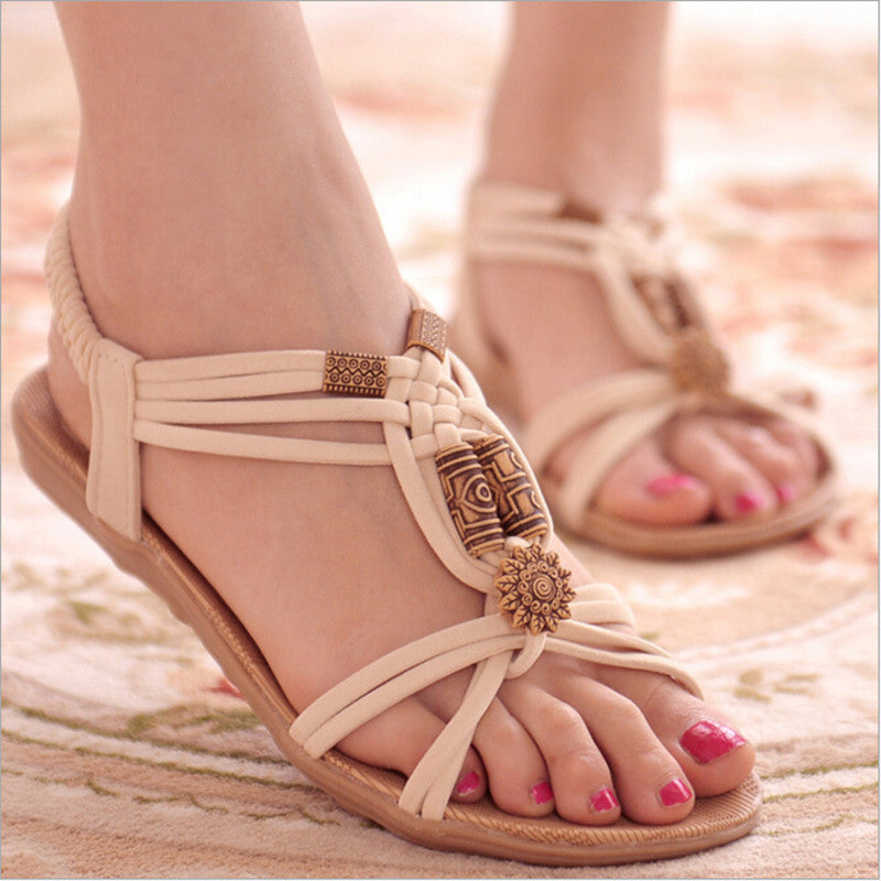 Fashion Flip Flops String Bead Shoes