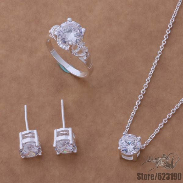 Silver plated stunning jewelry sets