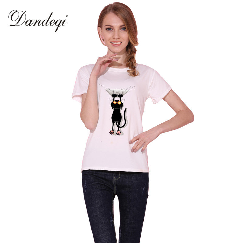 Naughty Black Cat 3D T shirt