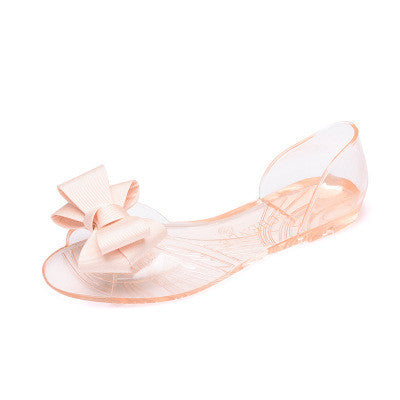 2017 Summer Crystal Jelly Shoes With Bow