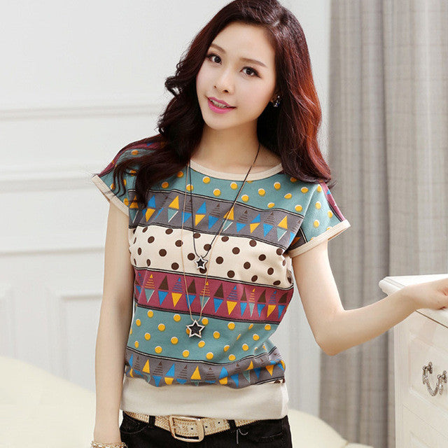 Hot Sale Unique Printed Short Sleeve T-shirt