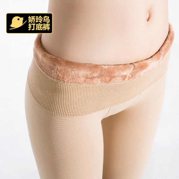 Bohocotol elastic plus velvet skin color leggings