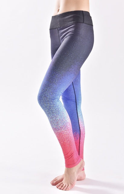 Sexy Leggings Fitness Women Space Pattern Leggins Active  Clothing Legins Workout  Pants