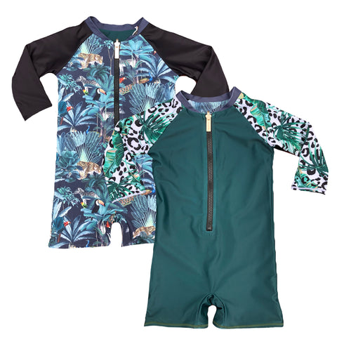 Rio Palms Infant suit - Reversible