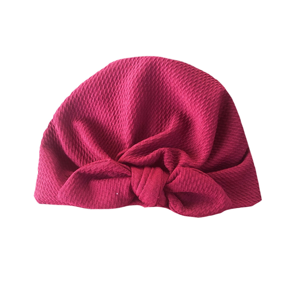 Rippled Bow Turban - Multiple colours