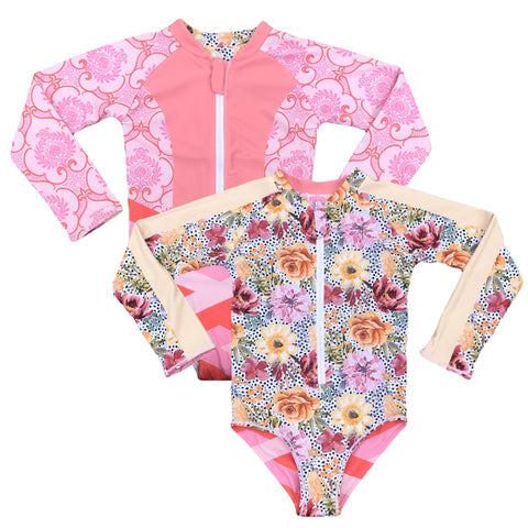 Royal Bouquet – Reversible One Piece