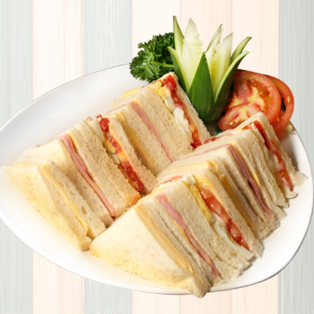 D12 Assorted Sandwiches (Tomatoes and Egg, Cheese and Ham)  (Each 10pcs)