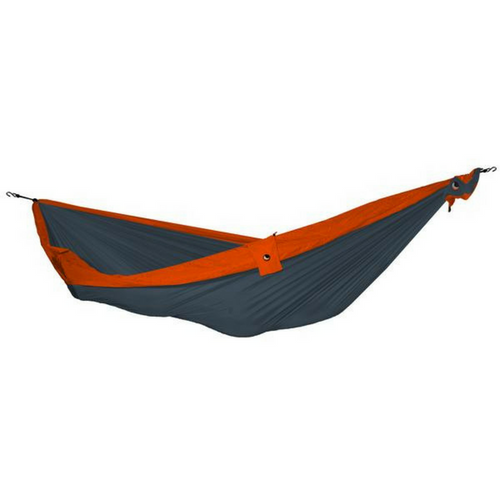DOUBLE HAMMOCK Hängematte GRAU / ORANGE