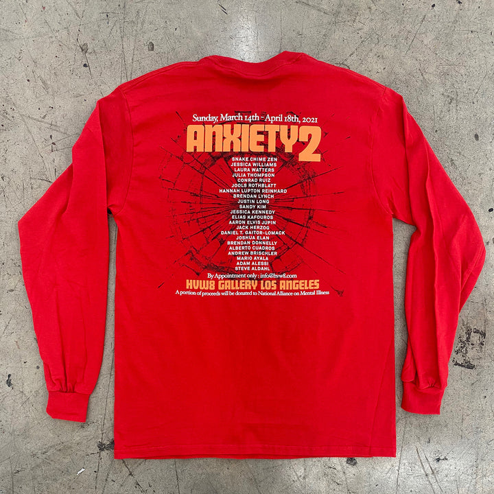 ANXIETY 2 Group Exhibition Long Sleeve Tee