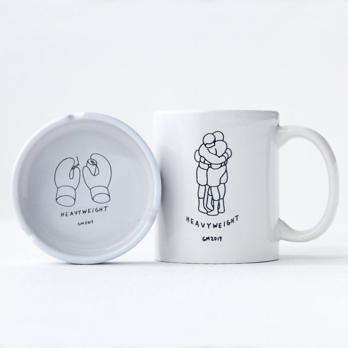 Geoff McFetridge 'Heavyweight' Mug and Ashtray Set
