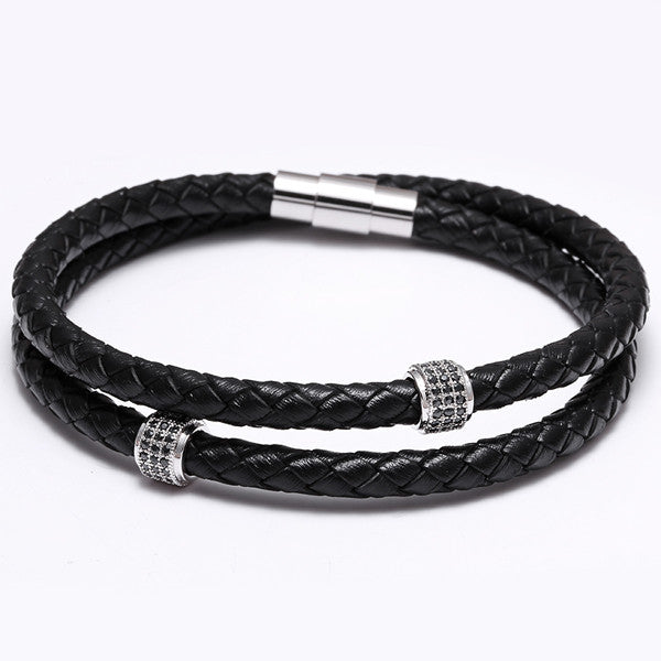 Double Loop Leather Bracelet (2 styles)